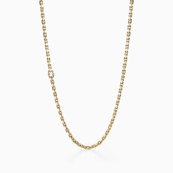 Tiffany 1837™:Makers Chain Necklace in 18k Gold, 24""