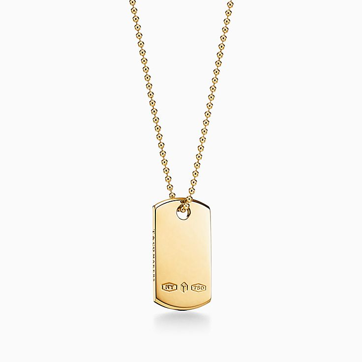 Tiffany 1837™:Makers I.D. Tag Pendant in 18k Gold, 24""