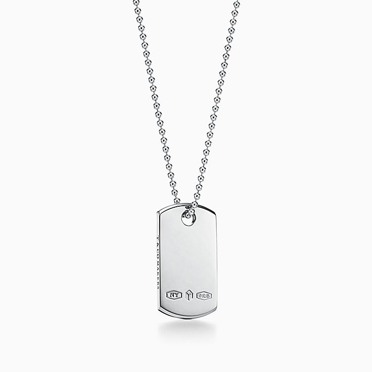 Tiffany 1837™:Makers I.D. Tag Pendant in Sterling Silver, 24""