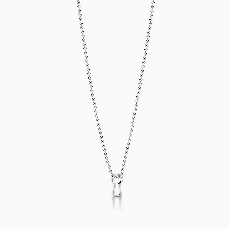 Tiffany 1837™:Makers Keyhole Pendant in Sterling Silver, 24""