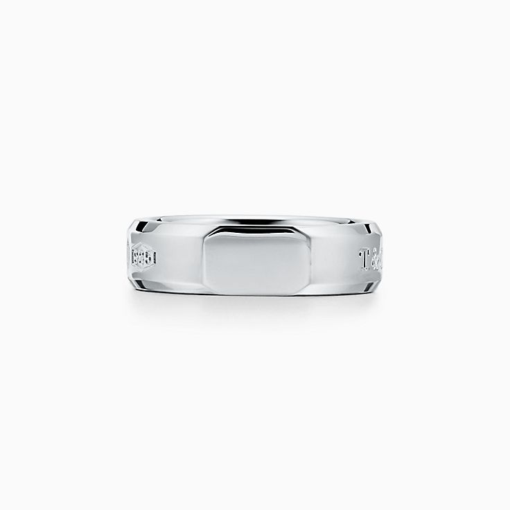 Tiffany 1837™:Makers Medium Slice Ring in Sterling Silver