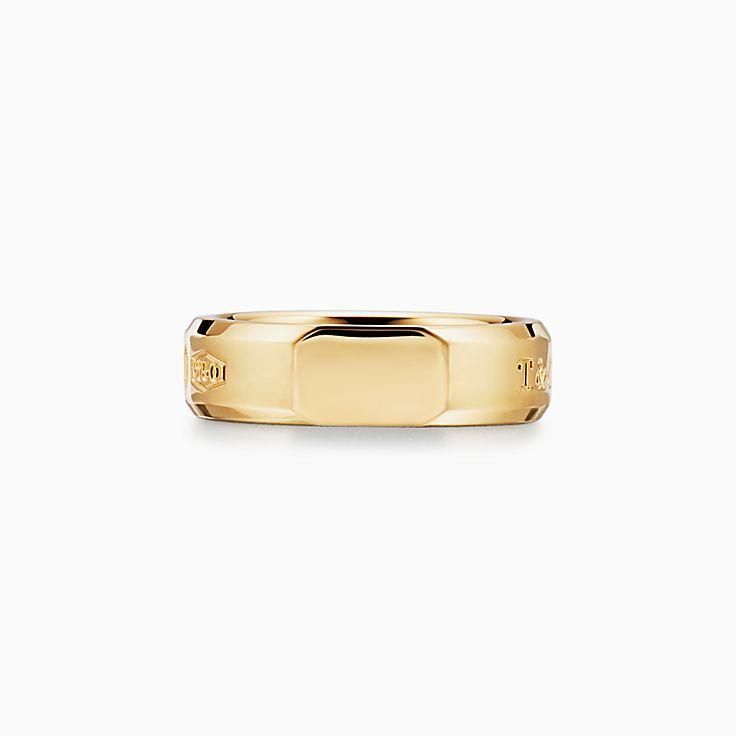 Tiffany 1837™:Makers mittelgroßer Scheibenring in 18KaratGold
