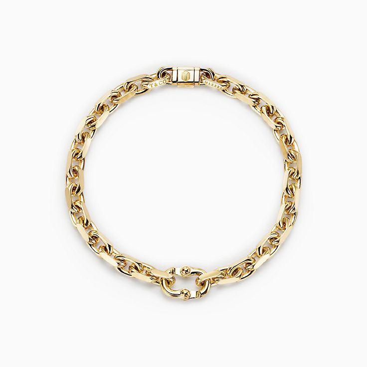 Tiffany 1837™:Makers Narrow Chain Bracelet in 18k Gold