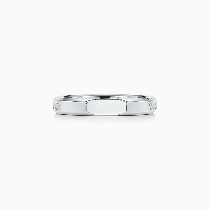 Tiffany 1837®:Makers Narrow Slice Ring in Sterling Silver