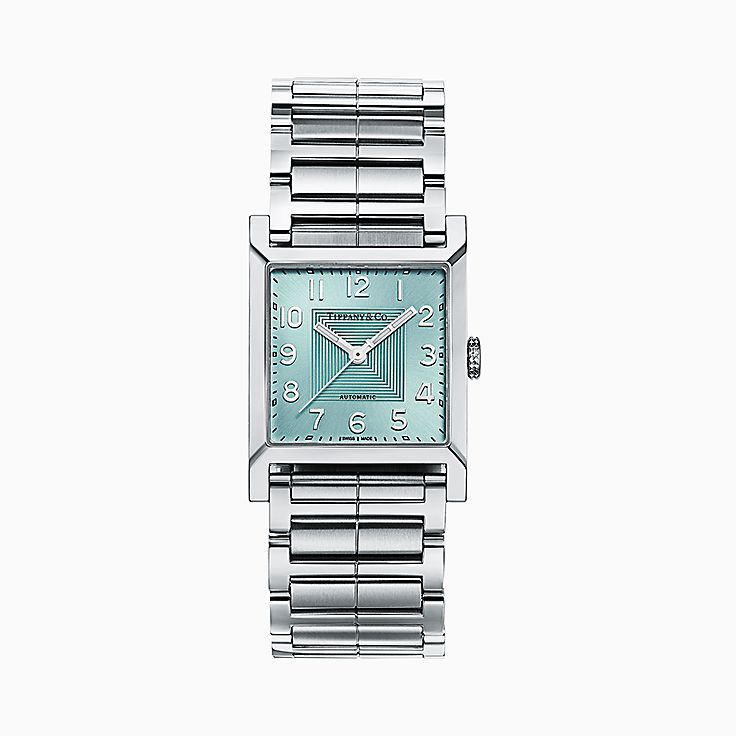 Tiffany 1837:Makers reloj cuadrado de 27 mm