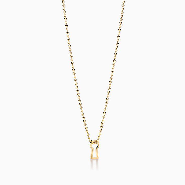 Tiffany 1837™:Makers Schlüsselloch-Anhänger in 18KaratGold, 60,9cm