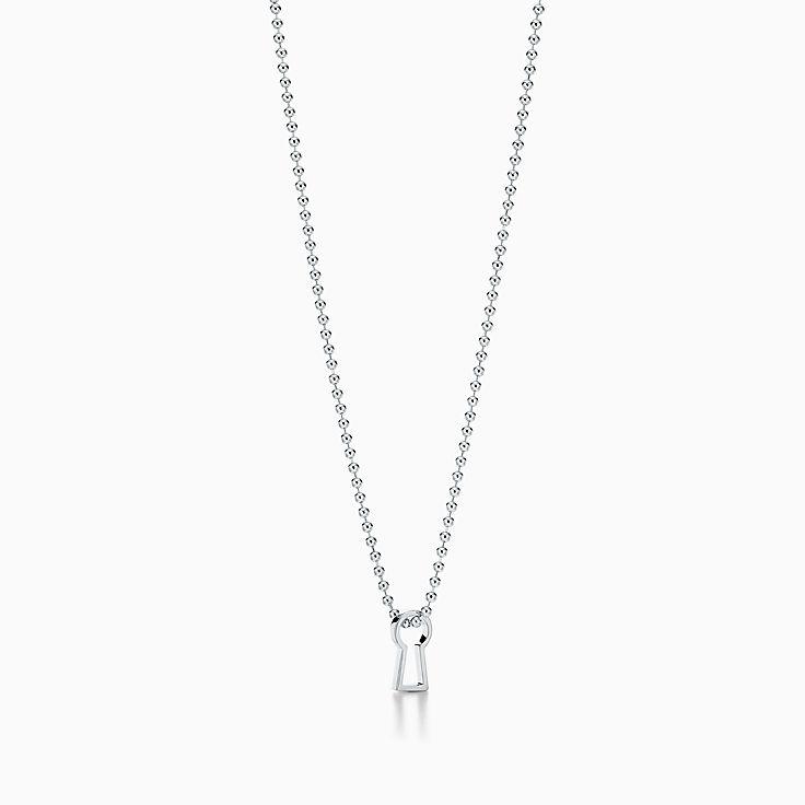Tiffany 1837™:Makers Schlüsselloch-Anhänger in Sterlingsilber, 60,9cm