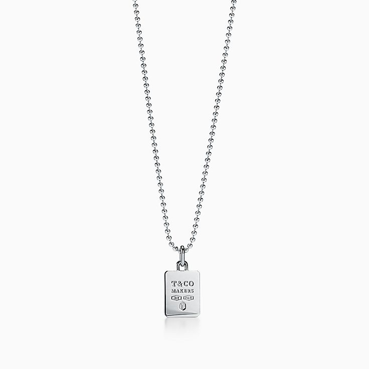 Tiffany 1837™:Makers Square Pendant in Sterling Silver, 24""