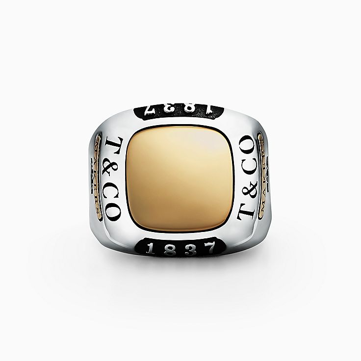 Tiffany 1837™:Makers Trophy Ring in Sterling Silver and 18k Gold