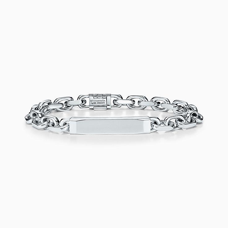 Tiffany 1837(MC):Bracelet chaîne d'identification Makers en argent sterling