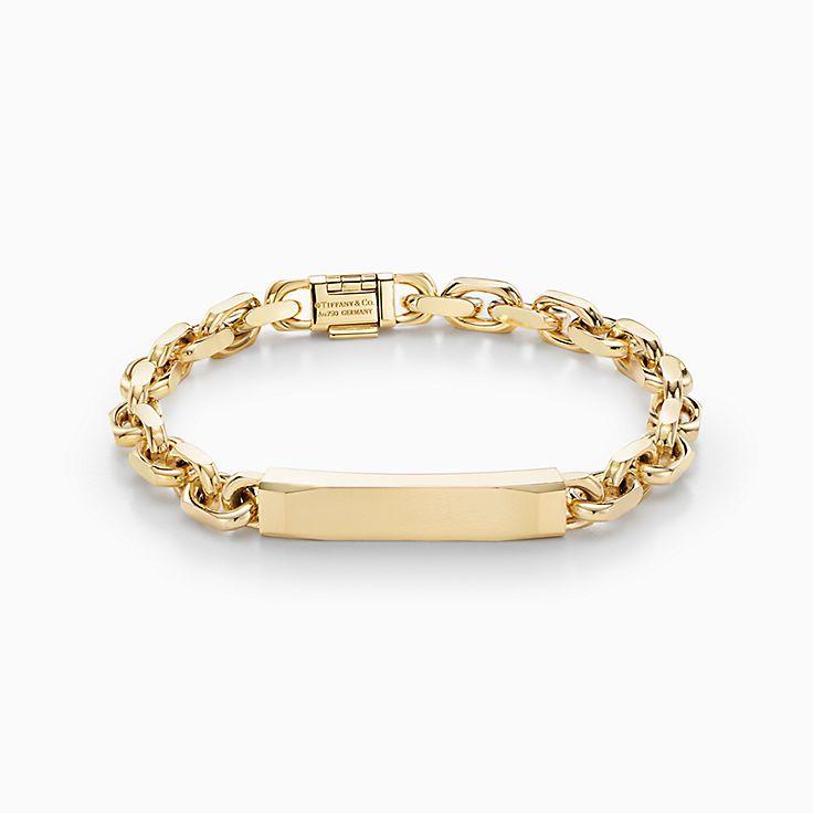 Tiffany 1837(MC):Bracelet chaîne d'identification Makers en or 18carats