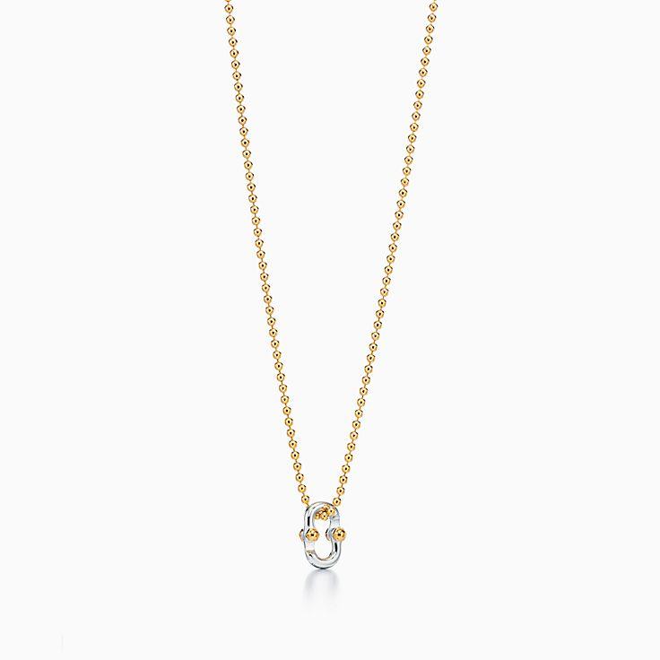 Tiffany 1837™:Pendente Clip Makers em ouro 18k e prata de lei, 61cm