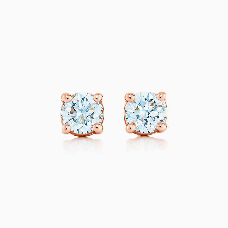 Серьги с бриллиантами-солитерами Tiffany