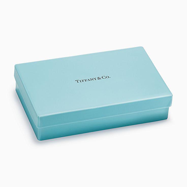 Предметы обихода:Коробочка Tiffany из костяного фарфора