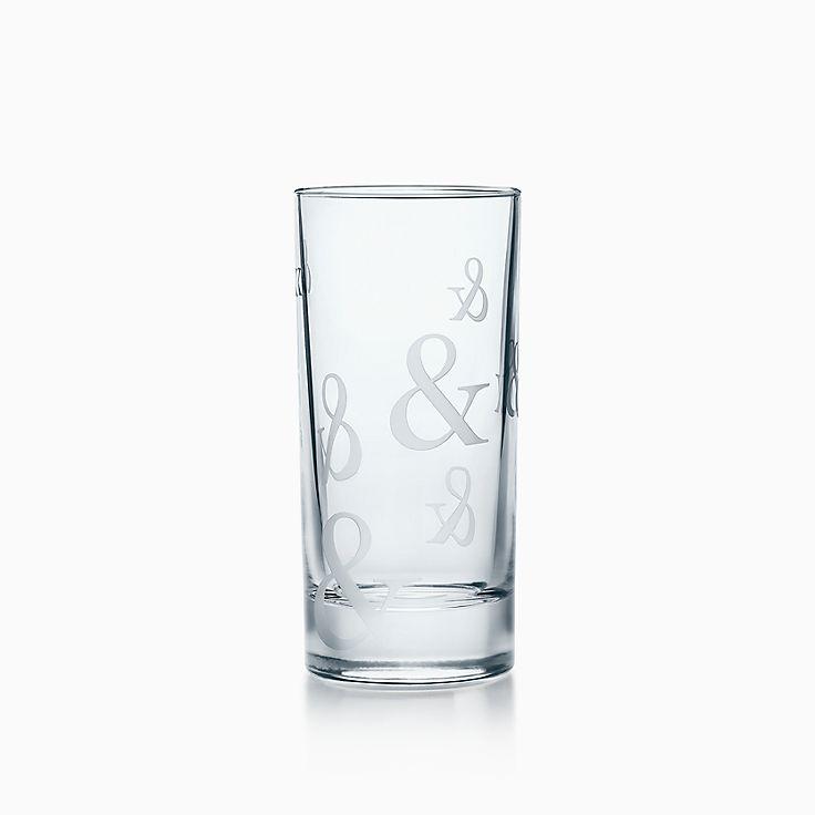 Tiffany Ampersand:Crystal Highball Glass