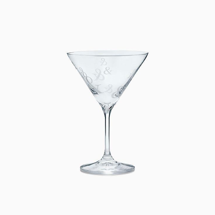 Tiffany Ampersand:Crystal Martini Glass