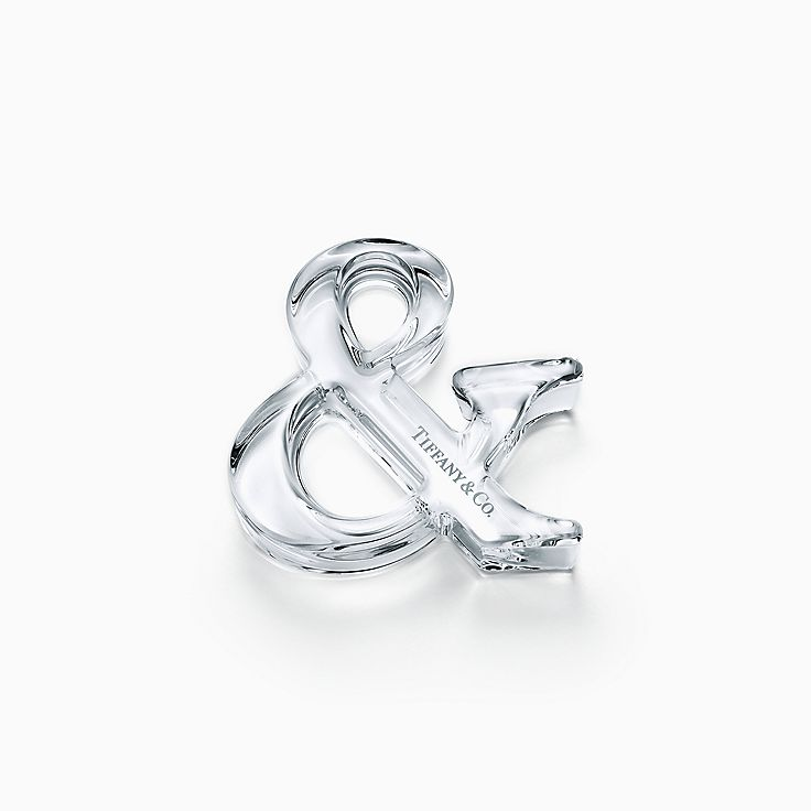 Tiffany Ampersand:Crystal Paperweight