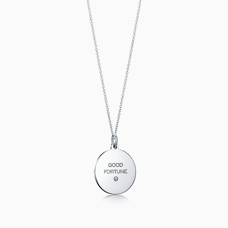 Tiffany Charms: Plaque «Good Fortune»