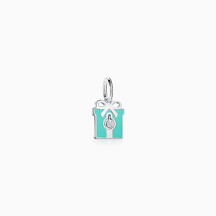Tiffany Charms:Diamond Box Charm