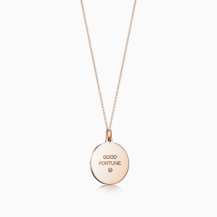 "Tiffany Charms:""Good Fortune"" Tag"
