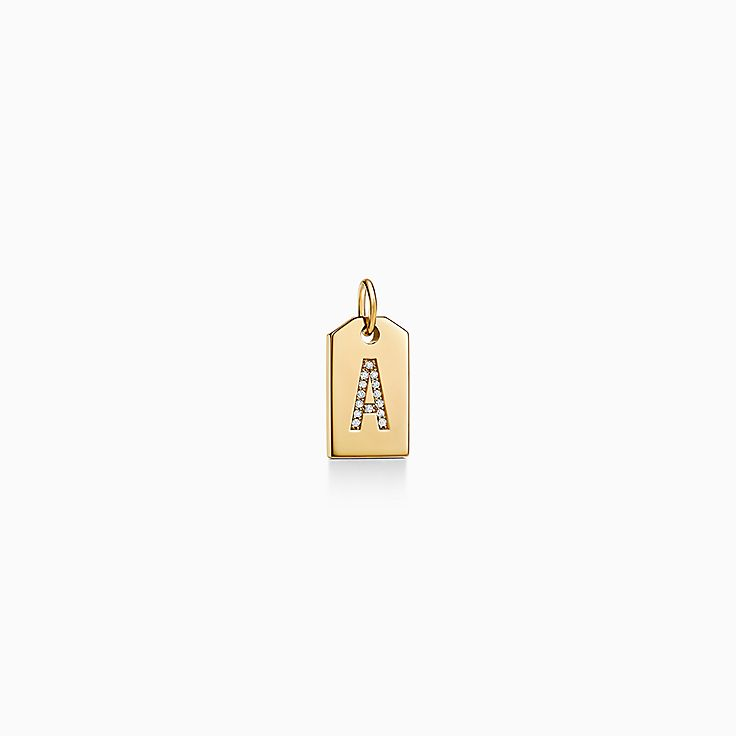 Tiffany Charms:Mini Alphabet Tag Charm