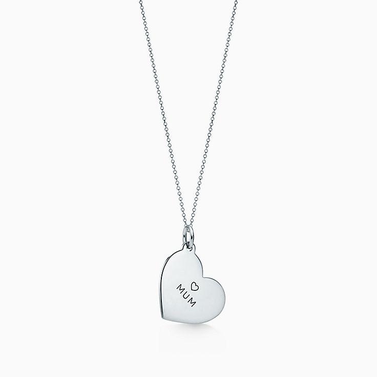 "Tiffany Charms:""Mum"" Heart Tag"