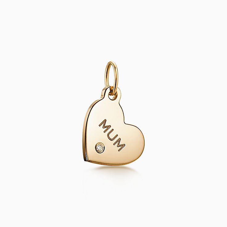 "Tiffany Charms:""Mum"" Heart Tag"
