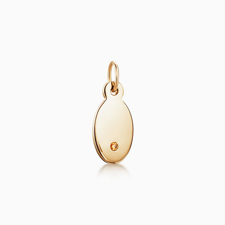 Tiffany Charms:Oval Tag