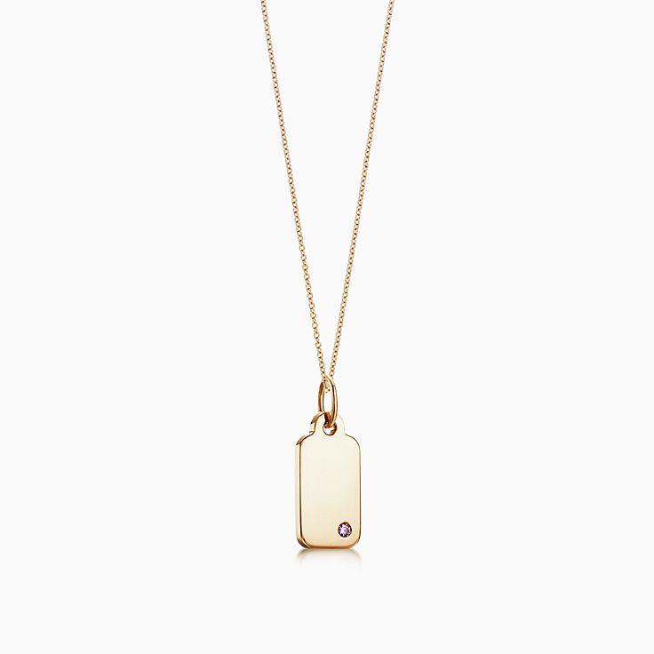 Tiffany Charms:Rectangle Tag