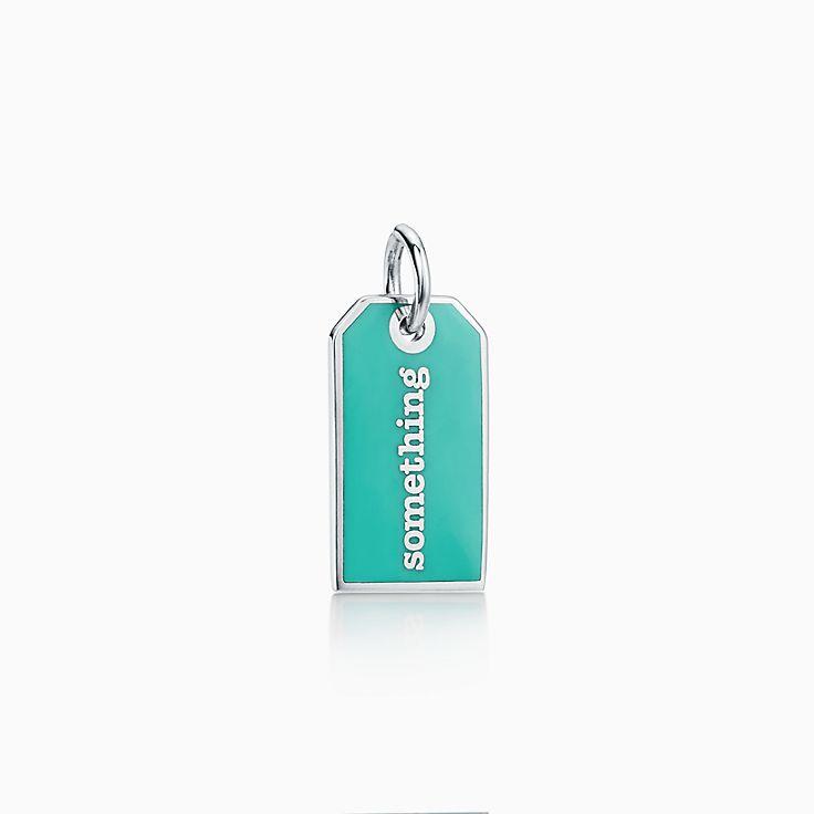 """Tiffany Charms:""""Something Blue"""" Tag Charm"""