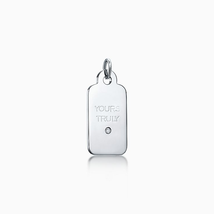 "Tiffany Charms:""Yours Truly"" Tag"