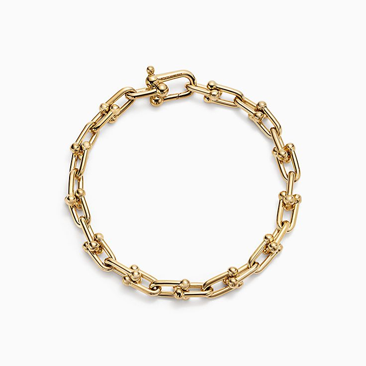 Tiffany City HardWear:Medium Link Bracelet in 18k Gold