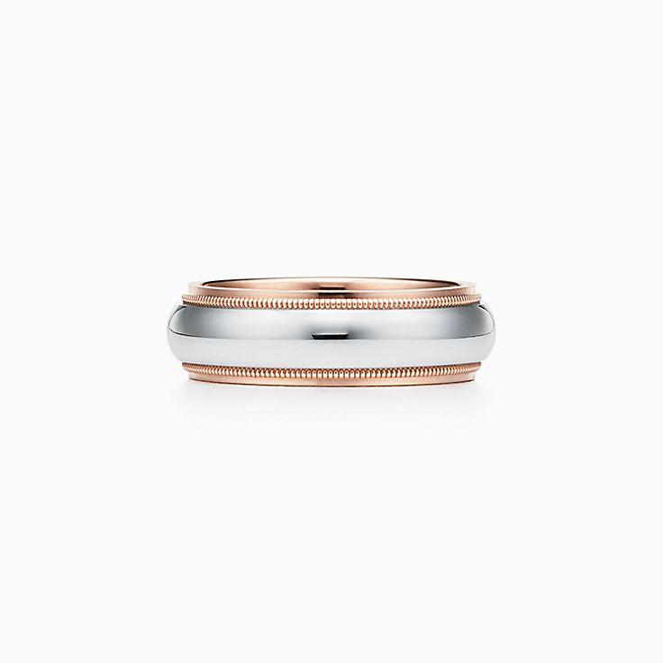 Tiffany Classic™:紋邊結婚戒指