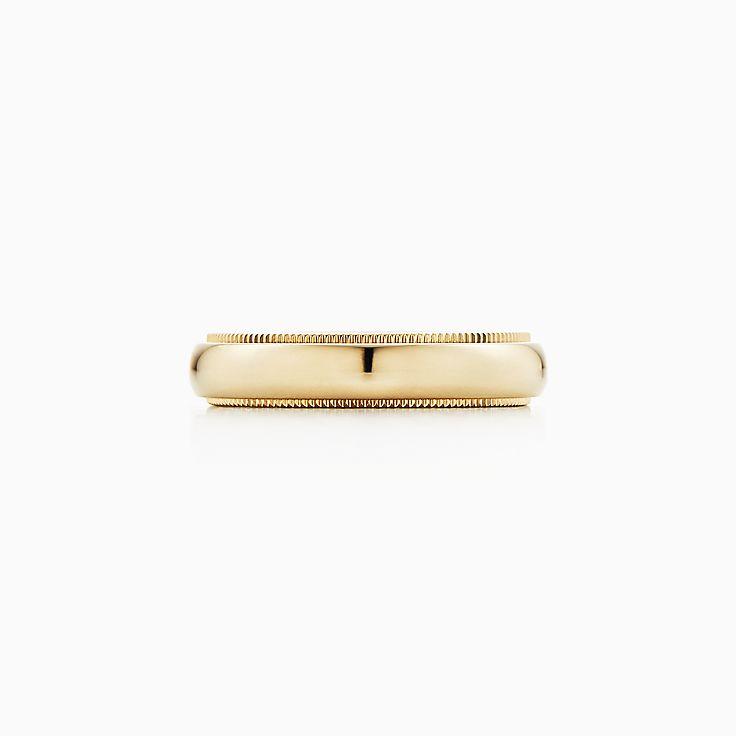 Tiffany Classic™: argolla de matrimonio con milgrain