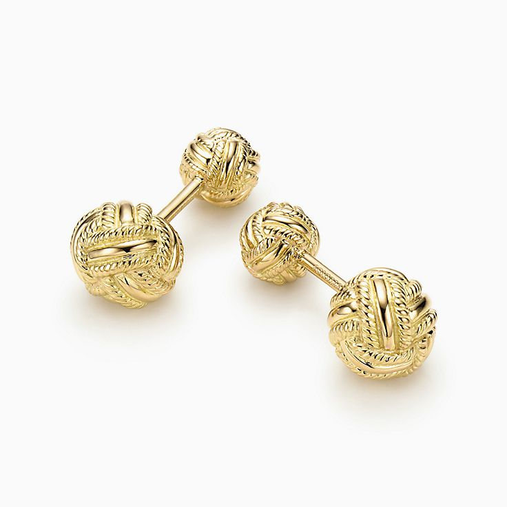 Tiffany & Co. Schlumberger:Запонки «Плетеный узел»