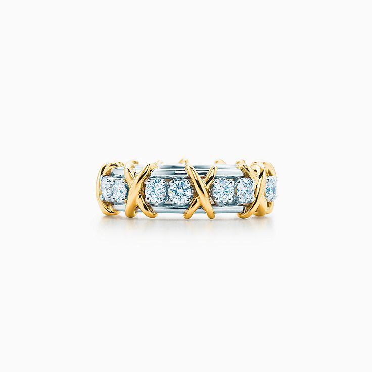 Tiffany & Co. Schlumberger: Anello Sixteen Stone