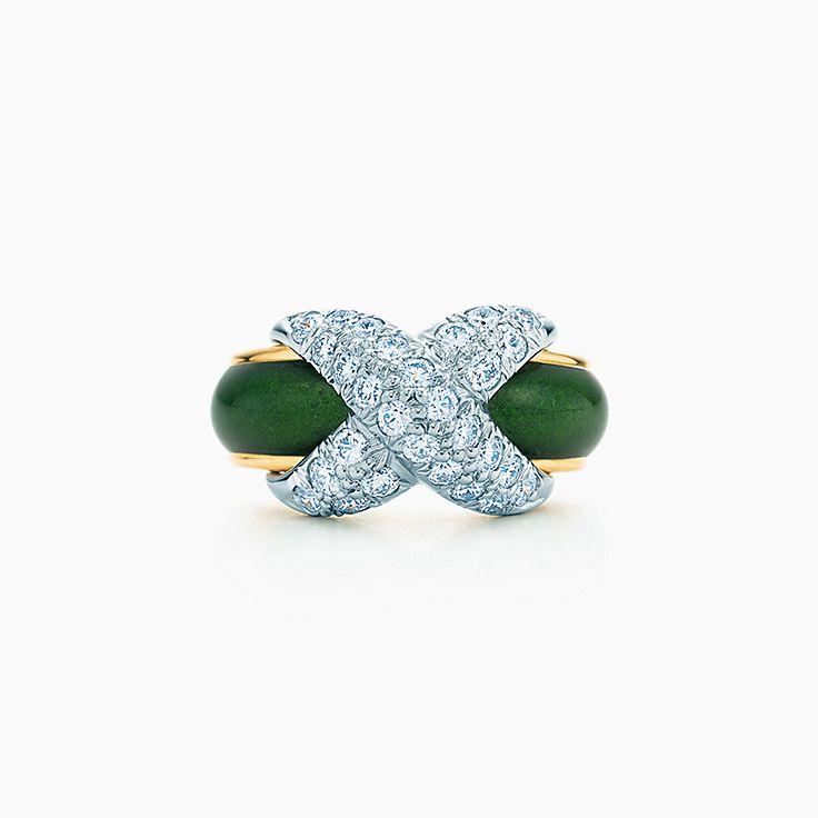 Tiffany & Co. Schlumberger: Bague Pavé en «X»