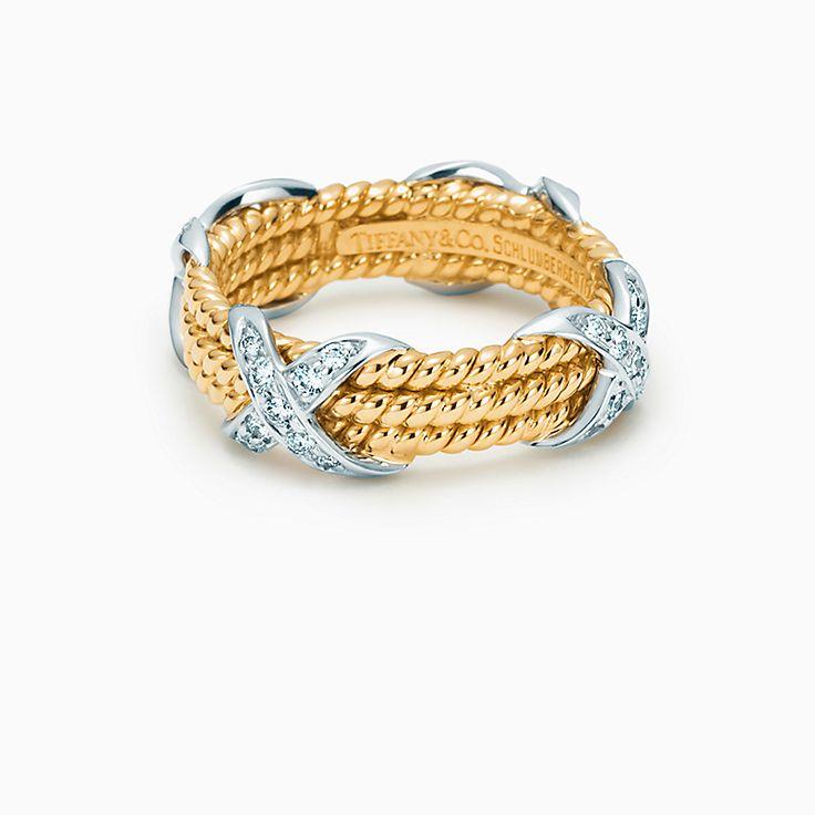 Tiffany & Co. Schlumberger: Bague à trois rangs de corde en X