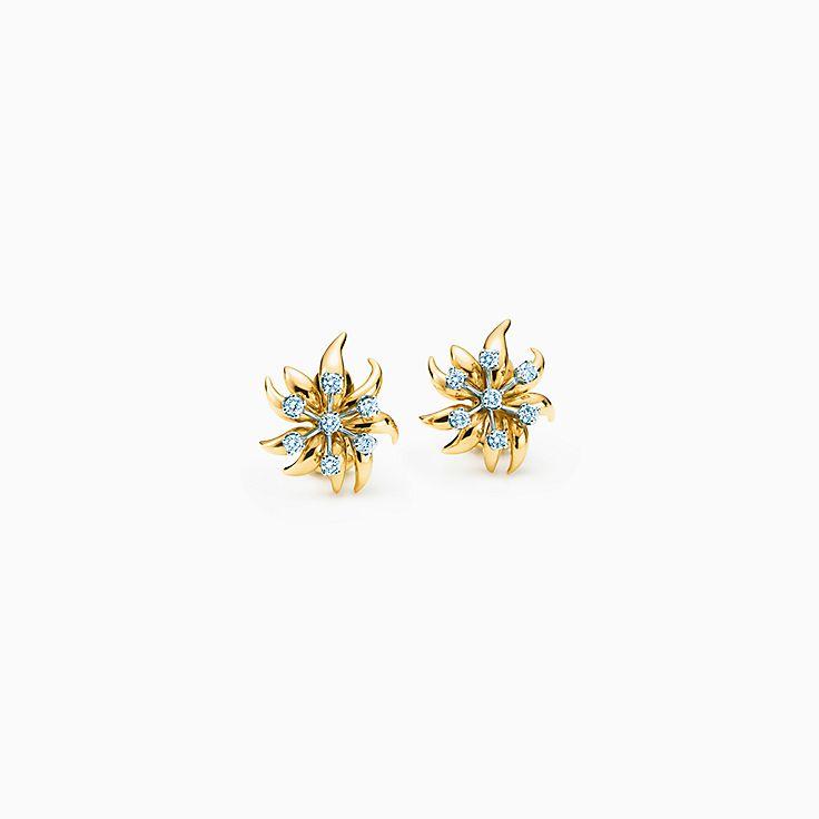 Tiffany & Co. Schlumberger: Brincos de pressão Flame