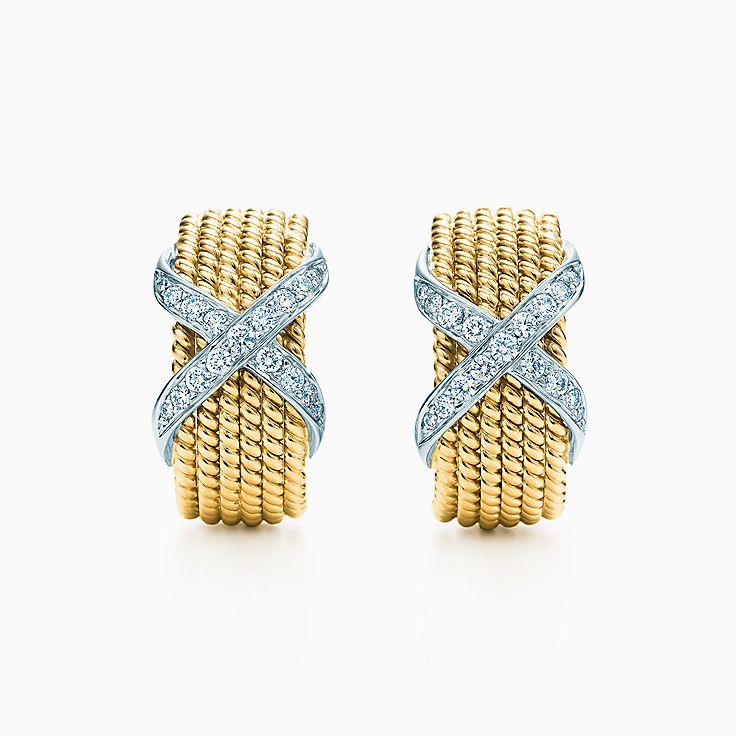 Tiffany & Co. Schlumberger: Brincos de pressão Rope