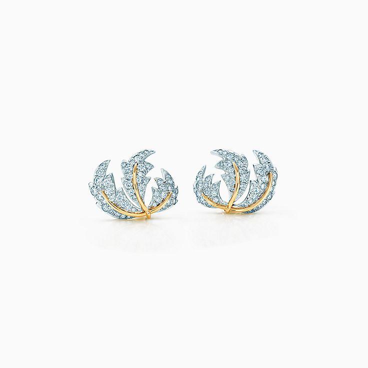 Tiffany & Co. Schlumberger: Brincos de pressão Three Leaves