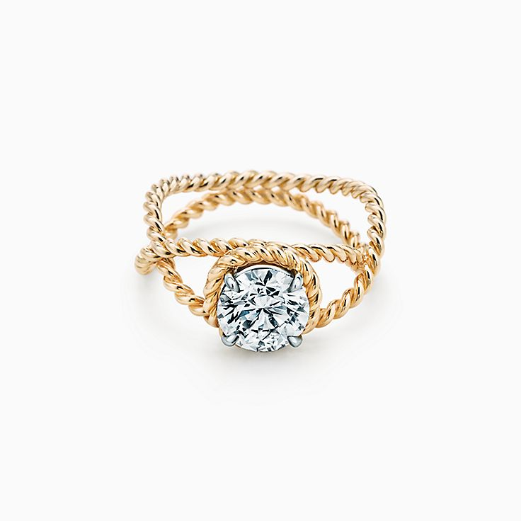 Tiffany & Co. Schlumberger Rope Engagement Ring in 18k Gold