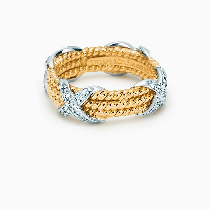 Tiffany & Co. Schlumberger: трехрядное кольцо RopeX