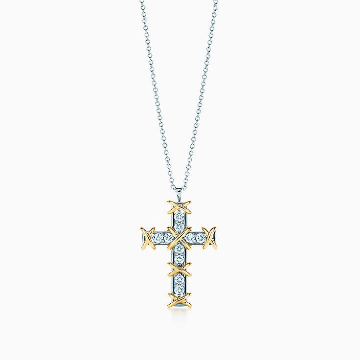 Tiffany & Co. Schlumberger:Подвеска-крест Ten Stone