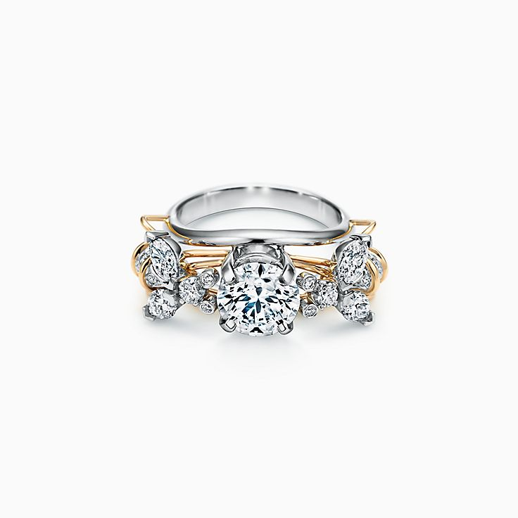 Tiffany & Co. Schlumberger Two Bees Engagement Ring in Platinum and 18k Gold