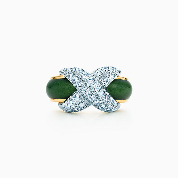 Tiffany & Co. Schlumberger:Кольцо X с бриллиантами паве