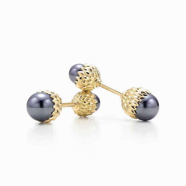 Tiffany & Co. Schlumberger:Acorn Cuff Links
