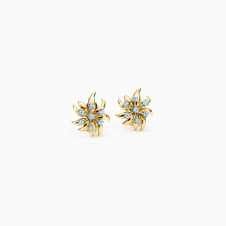 Tiffany & Co. Schlumberger:Flame Ear Clips