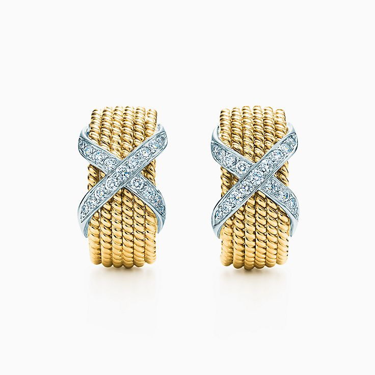 Tiffany & Co. Schlumberger:Rope Six-Row Ear Clips