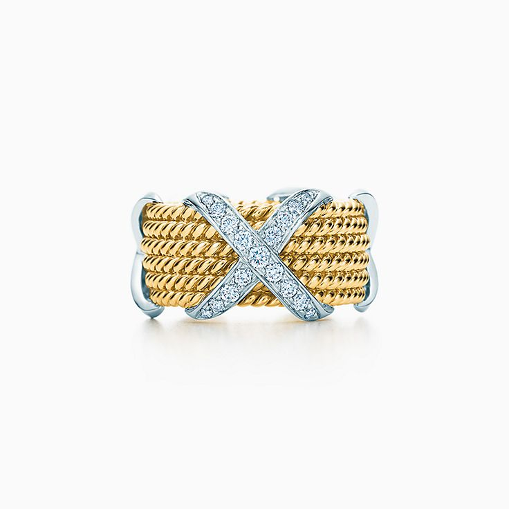 Tiffany & Co. Schlumberger:Rope Six-row X Ring